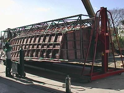36' hull mold steel frame